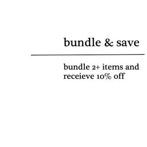 Bundle + SAVE!
